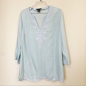 Chelsea & Theodore Tops - Chelsea & Theodore Embroidered Tunic - Sz M